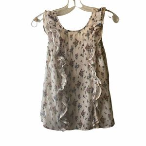 Stradivarius floral top size small